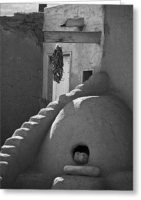 Pueblo Architecture Greeting Cards - Taos Pueblo Oven Greeting Card by Melany Sarafis