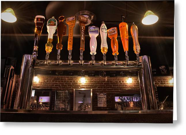 Beers Greeting Cards - Taps Greeting Card by Andrew Kubica