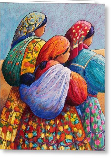 Indian Women Greeting Cards - Tarahumara Women Greeting Card by Candy Mayer
