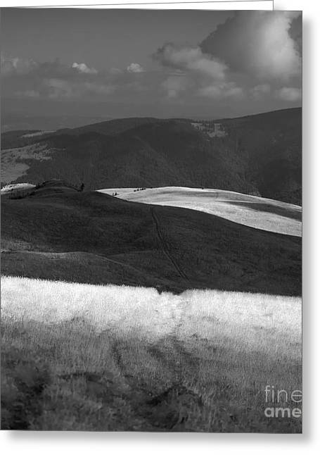 Carpathian Mountains Greeting Cards - Tarcu mountains before storm Greeting Card by Gabriela Insuratelu