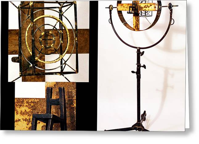 Standing Sculptures Greeting Cards - Target Greeting Card by Greg Shelnutt