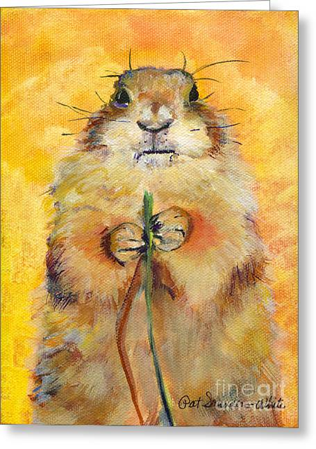 Large Prints Paintings Greeting Cards - Target Greeting Card by Pat Saunders-White
