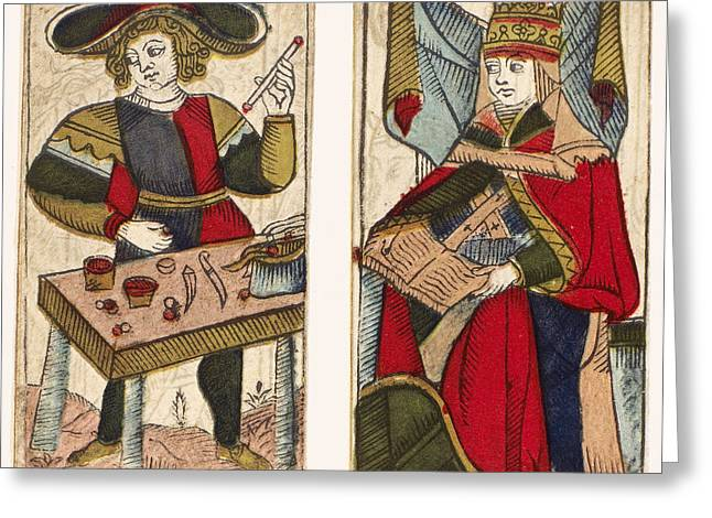 18th Century Greeting Cards - TAROT CARDS, c1700 Greeting Card by Granger