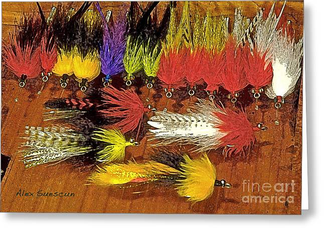 Tarpon Drawings Greeting Cards - Tarpon Whistlers Greeting Card by Alex Suescun