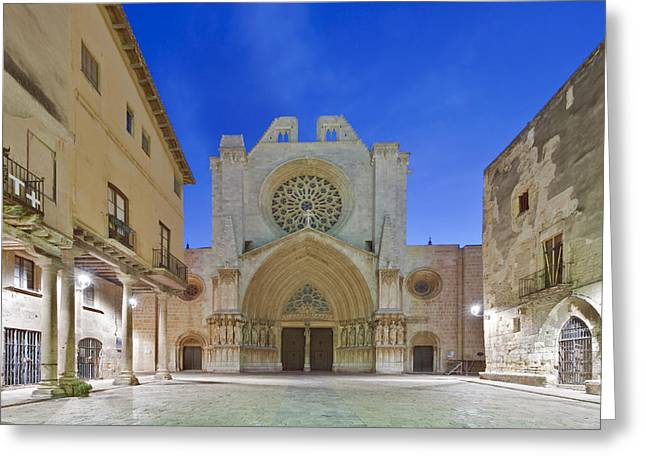 Tarragona Cathedral Founded In The 12th Greeting Card by Rob Tilley