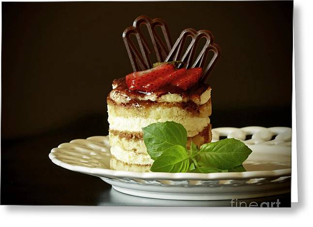 Shelley Myke Greeting Cards - Taste of Italy Tiramisu Greeting Card by Inspired Nature Photography By Shelley Myke