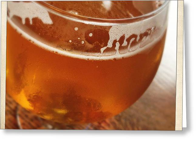 Amber Beer Greeting Cards - Tasty Glass of Beer Greeting Card by Lori Knisely