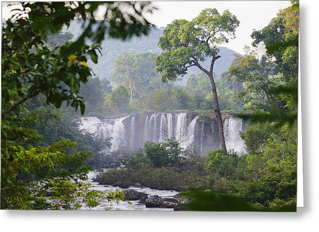 Tat Greeting Cards - Tat Lo Waterfall At Bolaven Plateau Greeting Card by Axiom Photographic