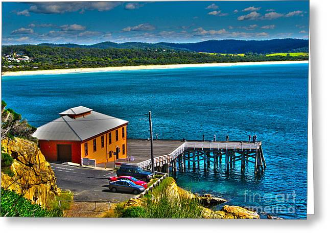 Joanne Kocwin Photographs Greeting Cards - Tathra Wharf Greeting Card by Joanne Kocwin