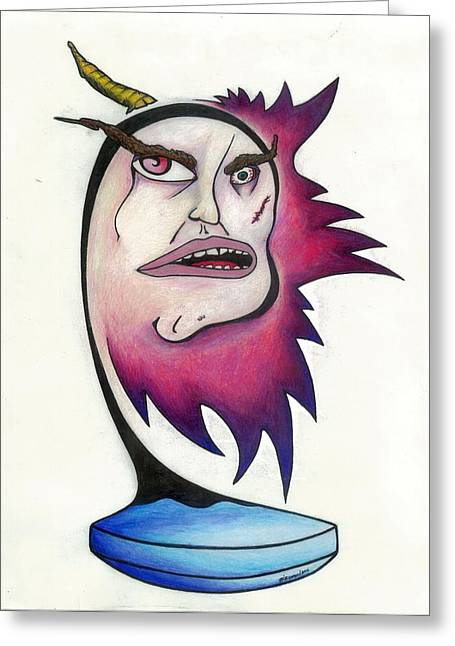 Pill Drawings Greeting Cards - Tattered Soul Greeting Card by Steve Weber