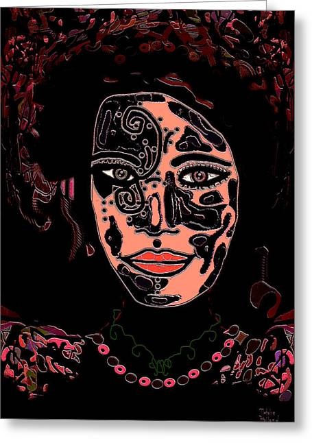 Recently Sold -  - Beauty Mark Mixed Media Greeting Cards - Tattoo Artist Greeting Card by Natalie Holland