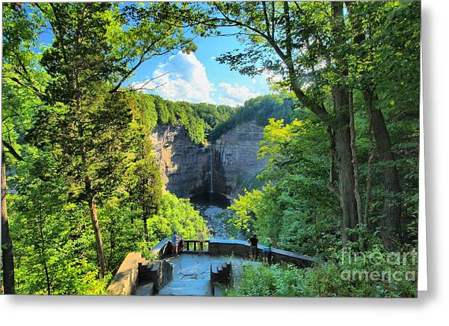 Taughannock Falls State Park Greeting Cards - Taughannock Falls Overlook Greeting Card by Adam Jewell