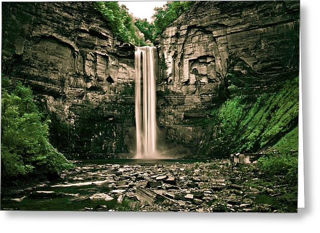 Fingerlakes Greeting Cards - Taughannock Falls Greeting Card by Tom Molczynski