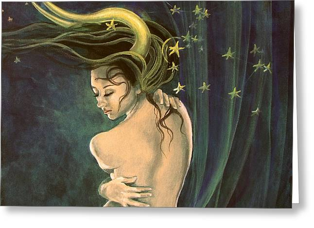 Taurus from Zodiac series Greeting Card by Dorina  Costras