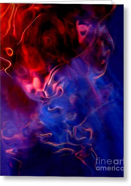 Abstract Expressionist Mixed Media Greeting Cards - Taurus Greeting Card by Terril Heilman