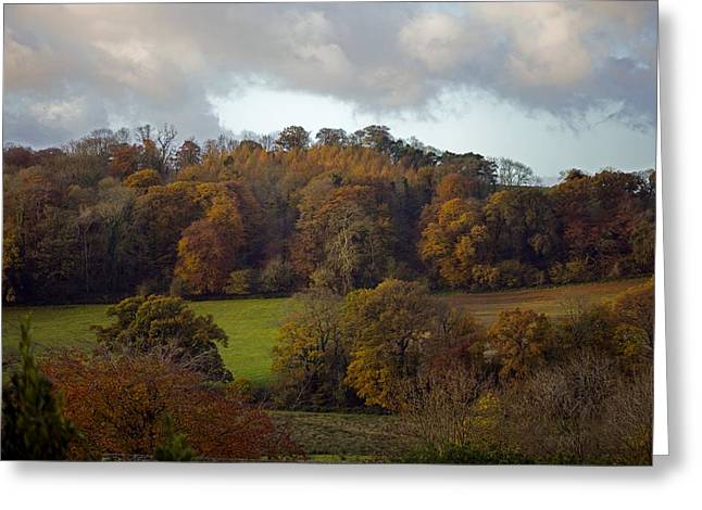 Bishop Hill Greeting Cards - Taw Valley In Autumn Greeting Card by Dr Keith Wheeler