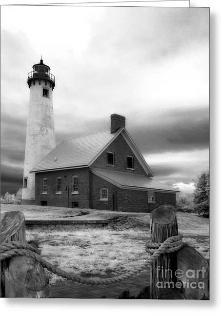 Jeff Holbrook Greeting Cards - Tawas Point Lighthouse Greeting Card by Jeff Holbrook