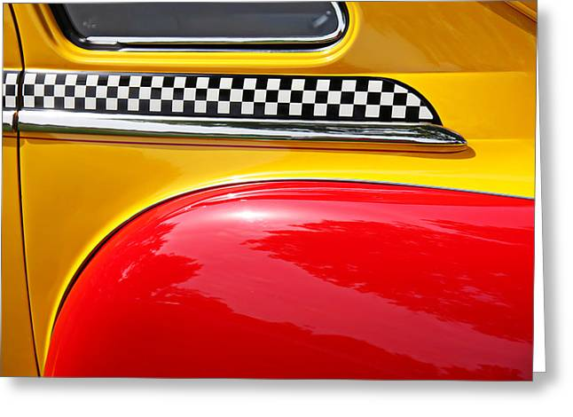 Taxi Greeting Cards - Taxi 1946 DeSoto Detail Greeting Card by Garry Gay