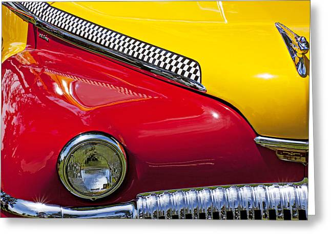 Headlight Greeting Cards - Taxi De Soto Greeting Card by Garry Gay