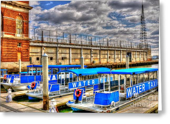Water Taxi Greeting Cards - Taxi Greeting Card by Debbi Granruth