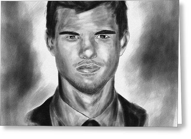 Taylor Lautner sharp Greeting Card by Kenal Louis