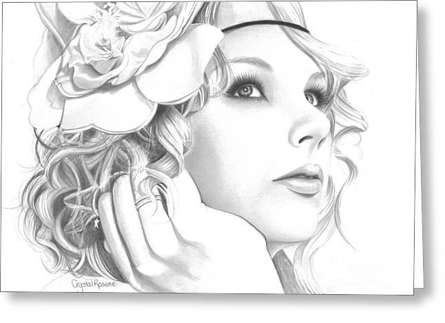 Taylor Swift Greeting Card by Crystal Rosene