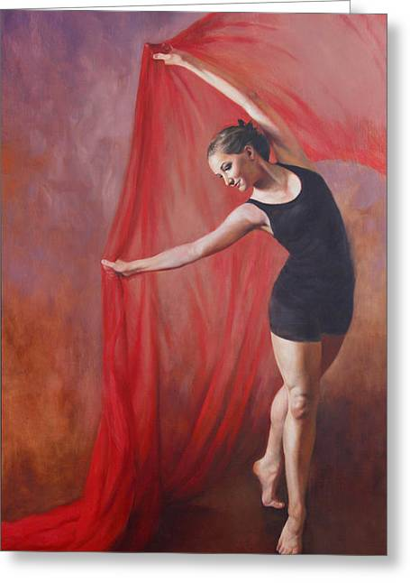 Modern Dance Greeting Cards - Taylors Dance Greeting Card by Anna Bain