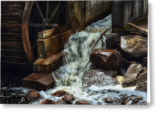 Saw Greeting Cards - Taylors Saw Mill Greeting Card by Tricia Marchlik