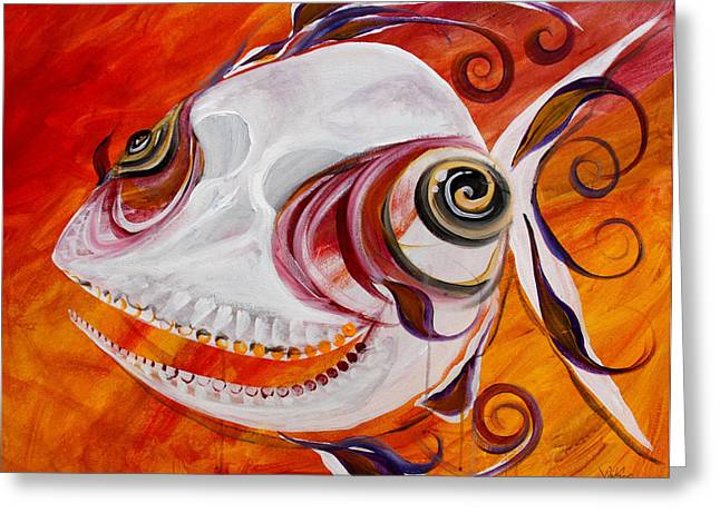 T.b. Chupacabra Fish Greeting Card by J Vincent Scarpace