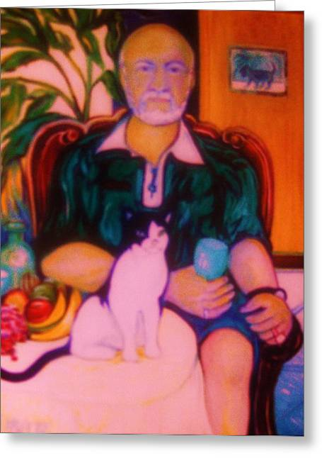 Gay Art Framed Giclee On Canvas Greeting Cards - T.C. the CAT   Art Deco Greeting Card by Gunter  Hortz