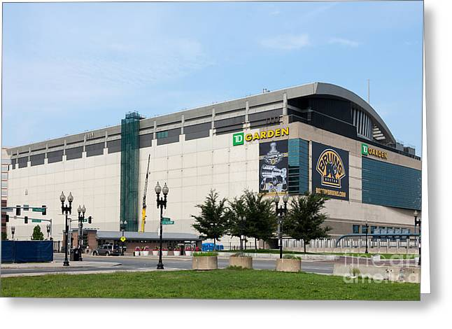 Recreation Building Greeting Cards - TD Garden Greeting Card by Clarence Holmes