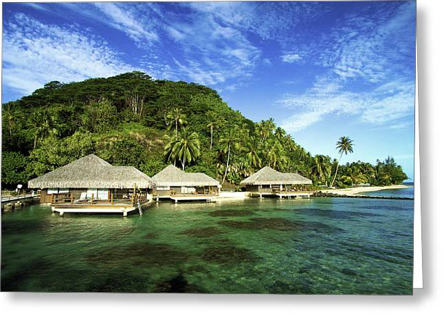 Overhang Greeting Cards - Te Tiare Resort Greeting Card by David Cornwell/First Light Pictures, Inc - Printscapes