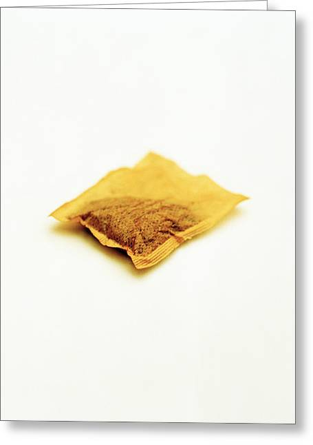 Holier Greeting Cards - Tea Bag Greeting Card by Kevin Curtis