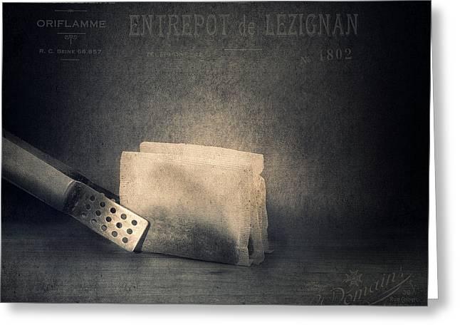 Tea Bag Greeting Cards - Tea Bags Greeting Card by Ian Barber