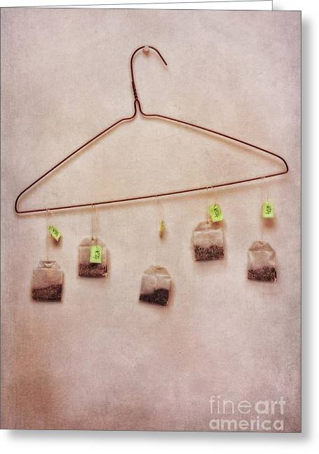 Still Life Glass Greeting Cards - Tea Bags Greeting Card by Priska Wettstein