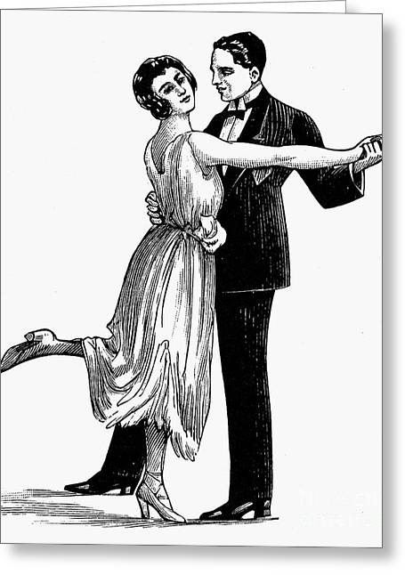 Tuxedo Greeting Cards - TEA DANCING, 20th CENTURY Greeting Card by Granger