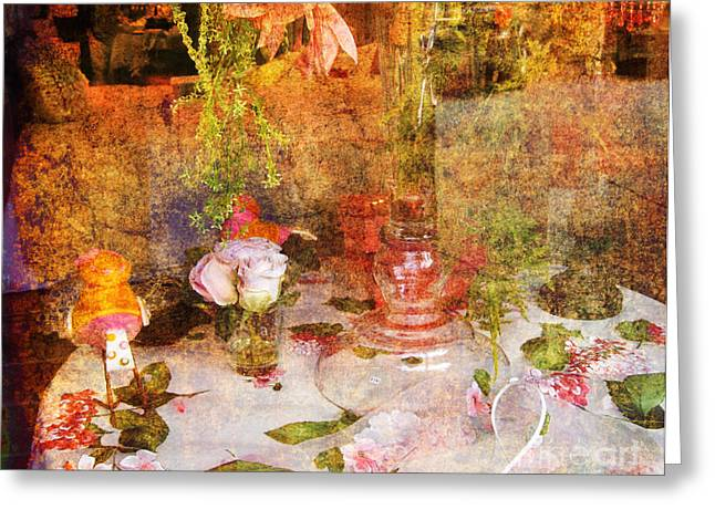 Tea For Two Greeting Cards - Tea for Two Romantic Greeting Card by Susanne Van Hulst