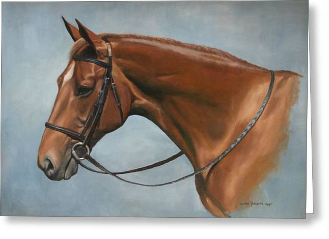 Mares Greeting Cards - Tea Party Greeting Card by Linda Tenukas