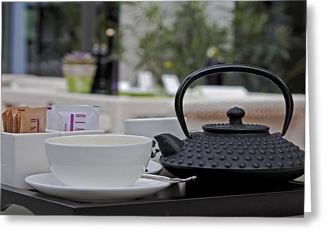 tea time Greeting Card by Joana Kruse