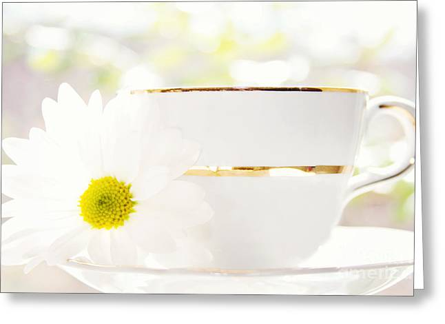 Teacup Filled with Sunshine Greeting Card by Kim Fearheiley