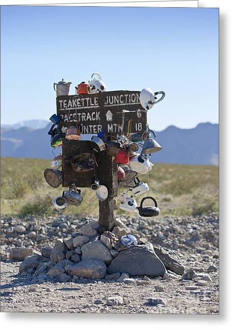 Teakettle Junction, Death Valley, California Greeting Card by David Buffington