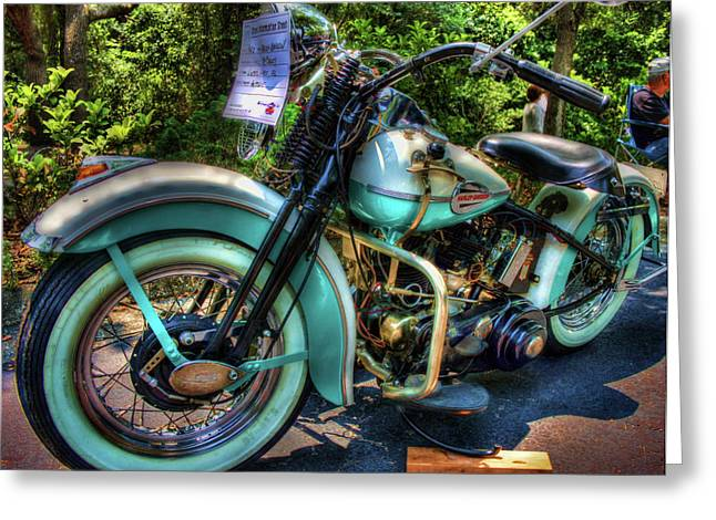 Handle Bars Greeting Cards - Teal Ride Greeting Card by Joetta West