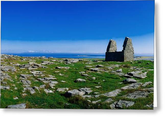 Connaught Greeting Cards - Teampoll Bheamain, Inishmore, Aran Greeting Card by The Irish Image Collection