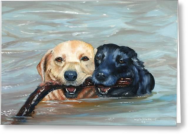 Cooperation Greeting Cards - Teamwork_2610 Greeting Card by Wanta Davenport