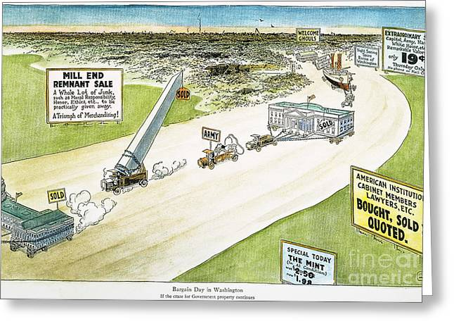 Scandal Greeting Cards - Teapot Dome Scandal, 1924 Greeting Card by Granger