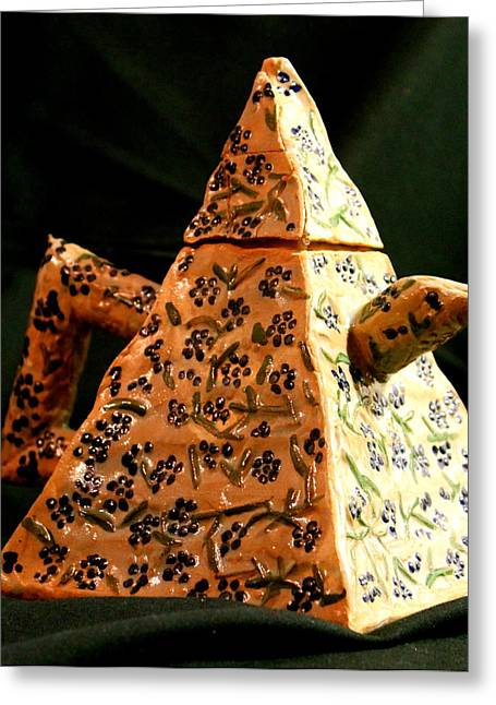 Pyramids Ceramics Greeting Cards - Teapot Greeting Card by Ghazel Rashid