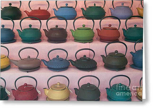 Clarence Holmes Greeting Cards - Teapots Greeting Card by Clarence Holmes