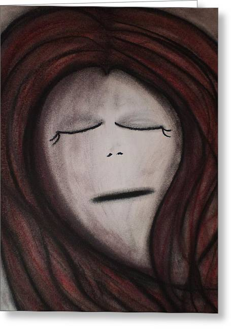 Sorrow Pastels Greeting Cards - Teardrop Greeting Card by Tracy Fallstrom