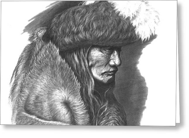 Tearing Robe Greeting Card by Lee Updike
