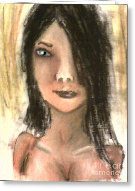 Person Pastels Greeting Cards - Tearless Greeting Card by Dustin Spaulding
